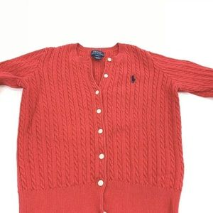 POLO RALPH LAUREN  Red Cardigan